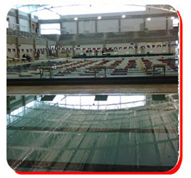 A view of the Rockwall Aquatic Center Olympic Pool.